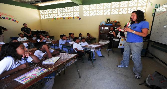 A hard working female teacher - I am impressed