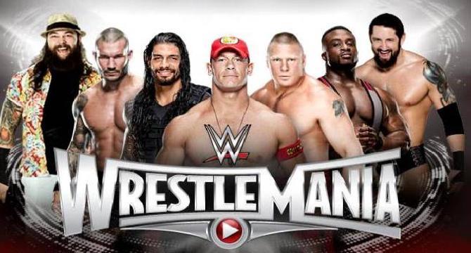 WWE Wrestlemania 31 All match cards.