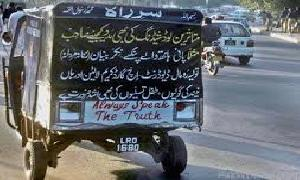 Rickshaws with catchy phrases !!!