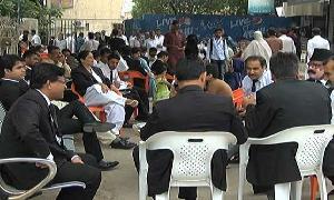 Hearings of high-profile cases postponed as Karachi lawyers strike against Mardan court blast