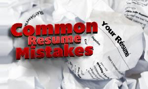 TOP 3 RESUME MISTAKES